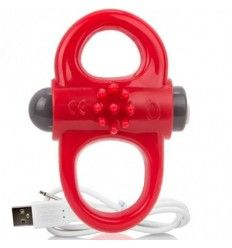 Screaming o anillo vibrador recargable yoga rojo