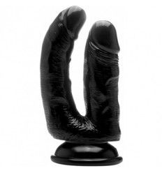 Real rock doble penetración negro / anal 12 cm vaginal 10 cm