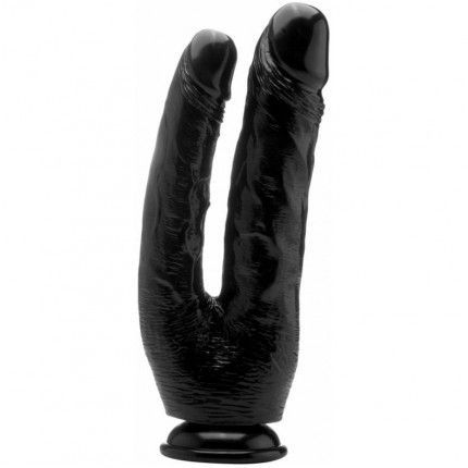 Real rock doble cock negro / anal 17.5 vaginal 15cm